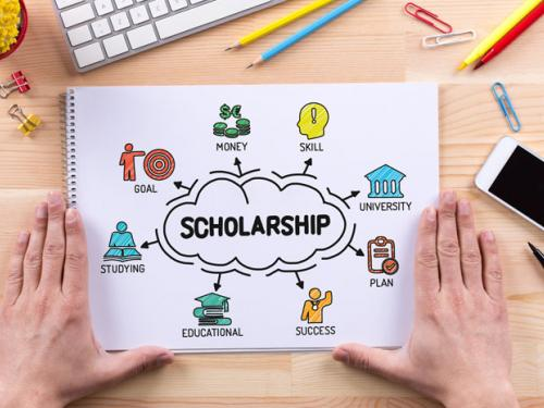 Stock image of scholarship graphic