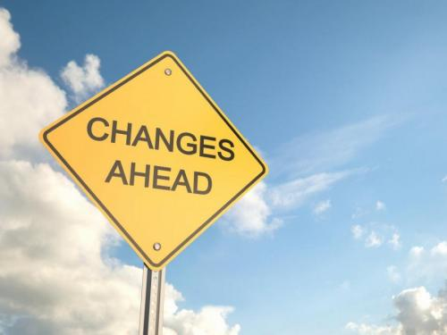 """Image showing a sign that says """"changes ahead"""""""
