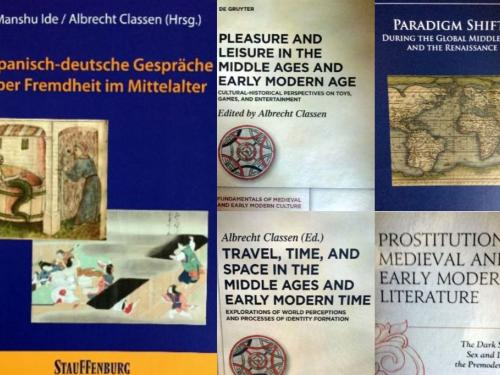 Collage of Dr. Classen's book covers