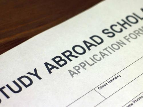 study abroad scholarship application form