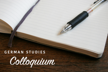 Colloquium stock picture, showing notebook and pen