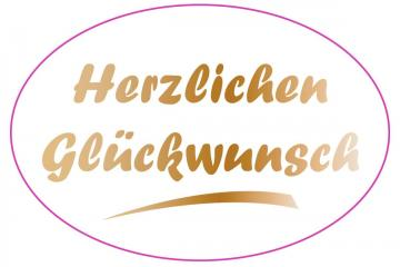 Image saying congratulations in German