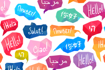 Picture of greetings in various languages